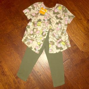 Gymboree Girl's Matching Top and Leggings NWT